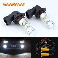 2X9006 HB4 белый светодиодные лампы 140 Вт 140lm Габаритные огни туман лампы + Canbus декодеры для BMW E60 E63 e64 E46 330Ci