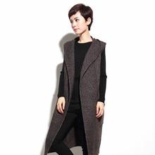 Overknee Com Capuz Casaco cardigan de Malha Longo Colete Feminino Moda Gilet Colete Casaco de Inverno Quente Outerwear 2017 Colete Feminino