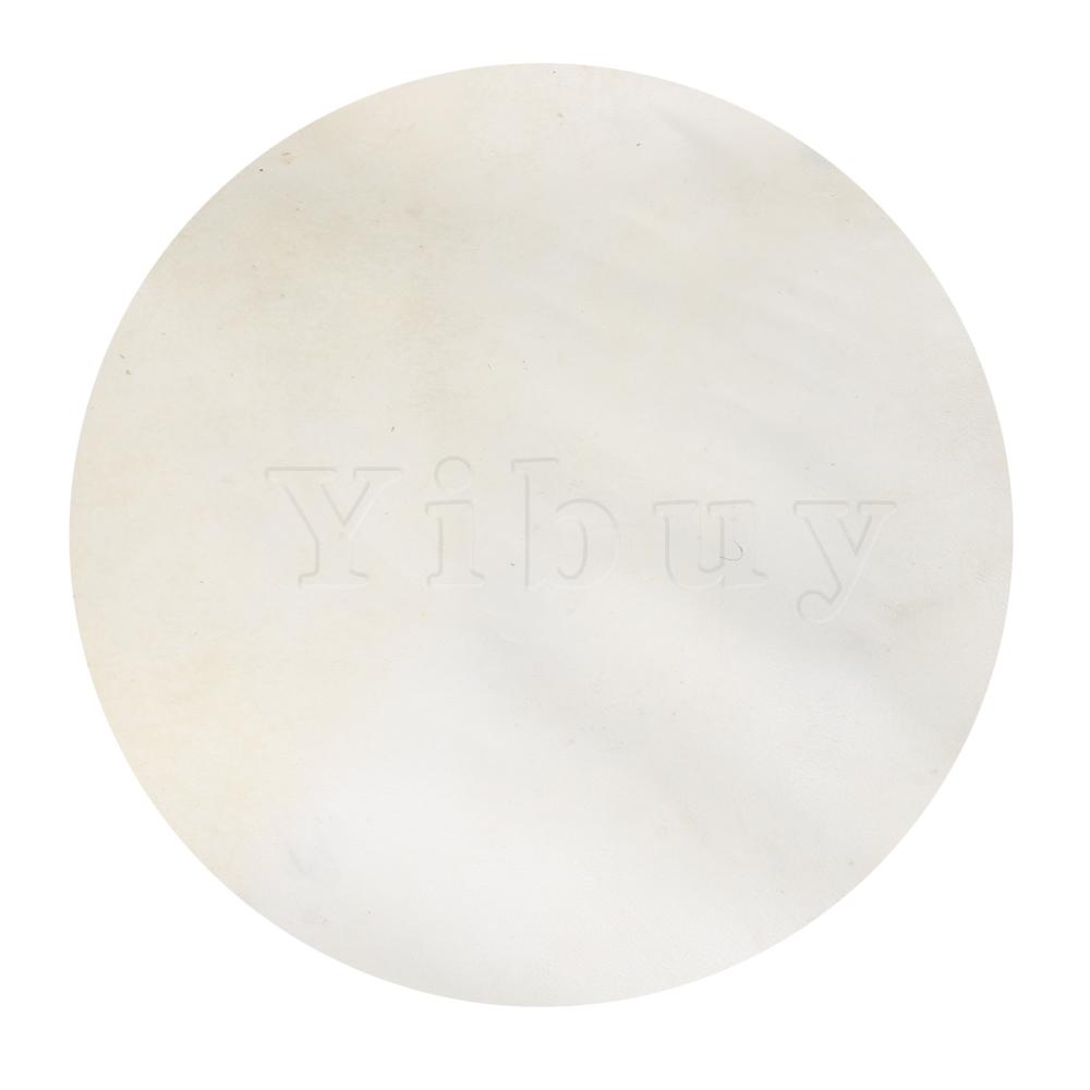 Yibuy 45cm Diameter Thin Skin Drums Head Depilatory Thinskin Replacement Material For Bongo Drums / Shaman Drums Beige