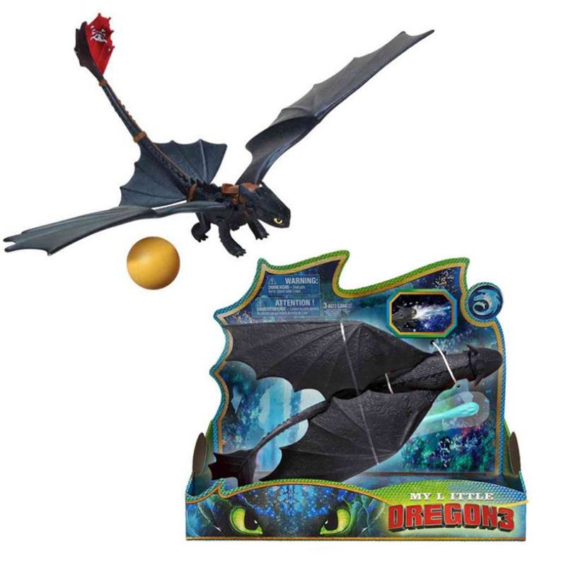 New Toothless Shooting Toys How To Train Your Dragon Hand Control Figures Night Fury  Light Fury Children's Gifts