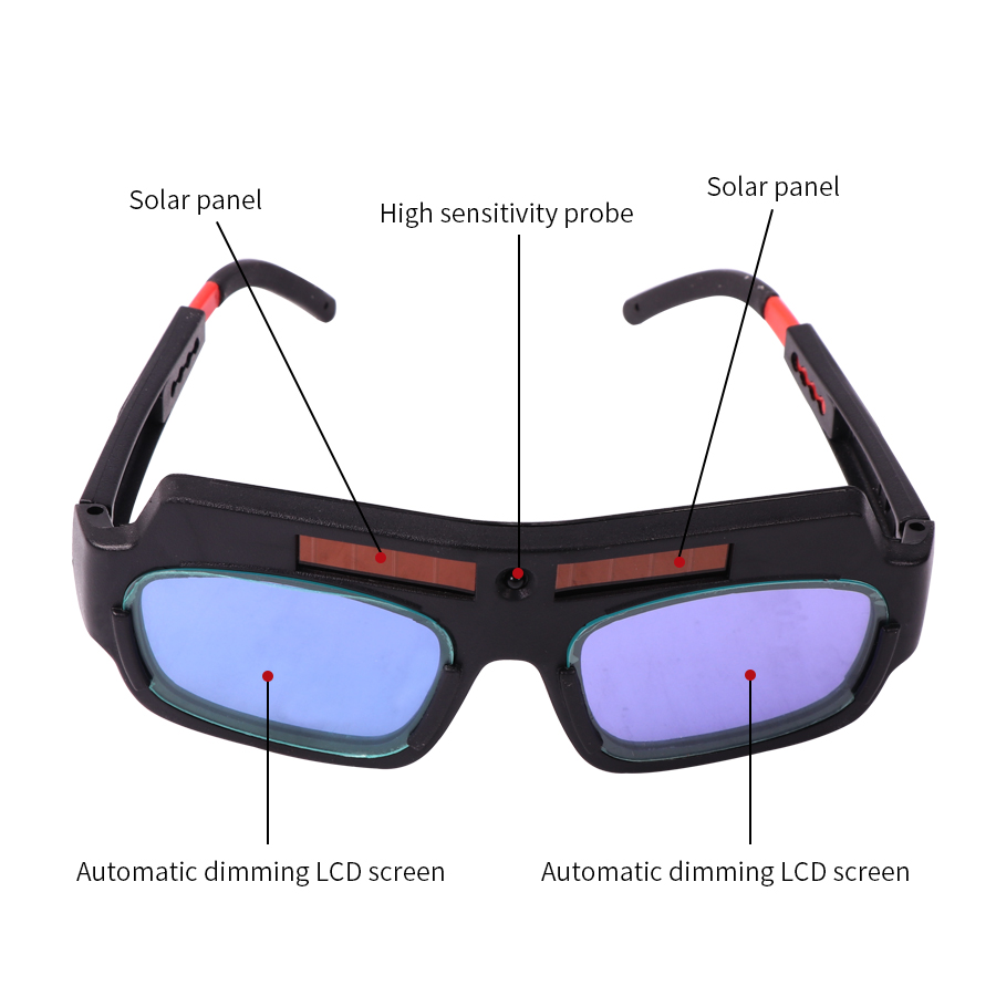 Welding Mask Helmet Goggle Welder Glasses Arc PC Lens Great Goggles For  Welding Protection With Solar Powered Auto Darkening