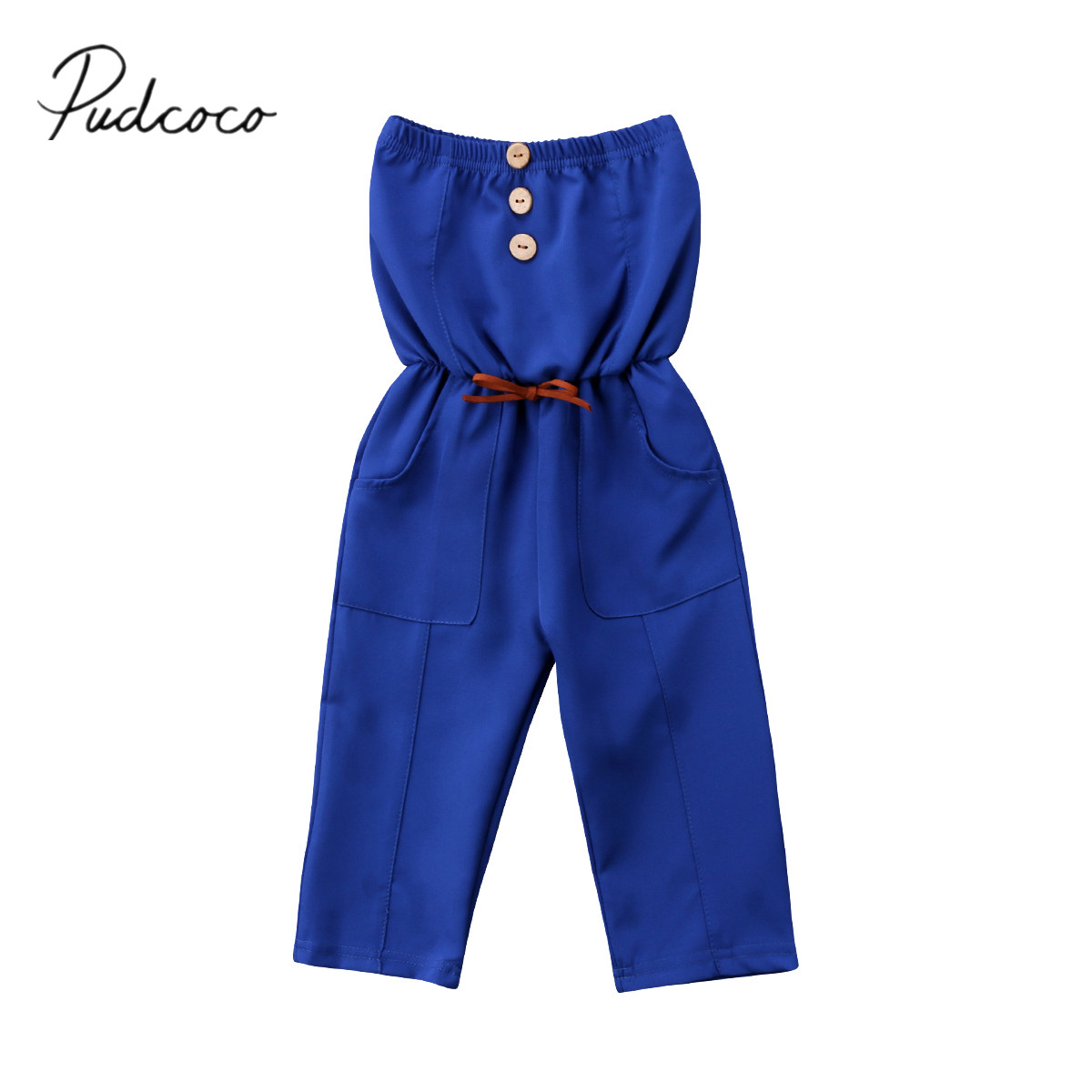 bc537e33d816 Detail Feedback Questions about 2018 Brand New Toddler Infant Child Kids  Baby Girls Strapless Romper Solid Jumpsuit Fashion Summer Outfits Clothing  Overall ...