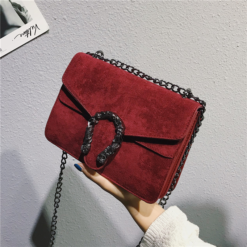 Image 4 - DORANMI Classic Suede Women Shoulder Bag 2019 Chic Autumn Flap Bags  Crossbody Bag Messenger Chain Strap Bolsos Mujer DJB778-in Shoulder Bags from Luggage & Bags