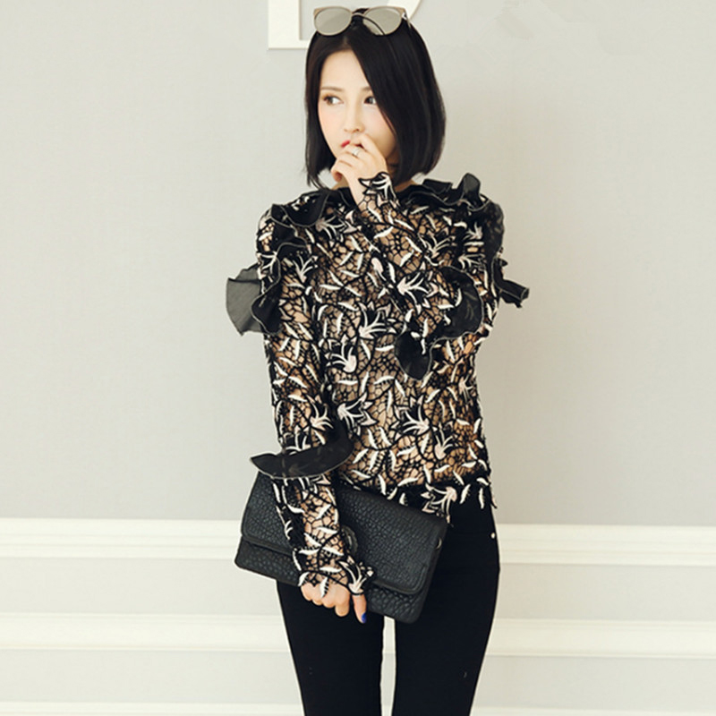 Self Portrait Woman Blouse Floral Lace Top