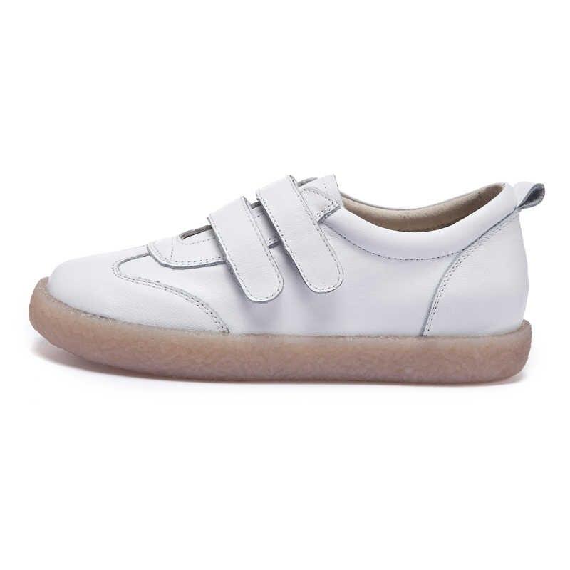 Timetang 2019 moda feminina sapatos de couro genuíno mocassins feminino sapatos casuais feitos à mão macio confortável sapatos femininos flatse763
