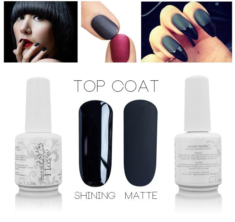 Enchanting Matte Gel Nail Polish Top Coat Festooning - Nail Art ...