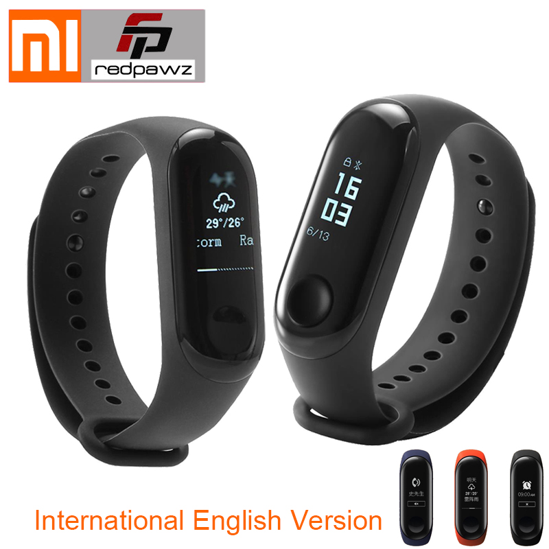 International Original Xiaomi Mi Band 3 Smart Bracelet 0.78 inch OLED Instant Message Caller ID Weather Forecate Passometer in stock original xiaomi mi band 3 0 78 inch oled instant message caller id weather forecate vibration clock mi band 2 upgrad