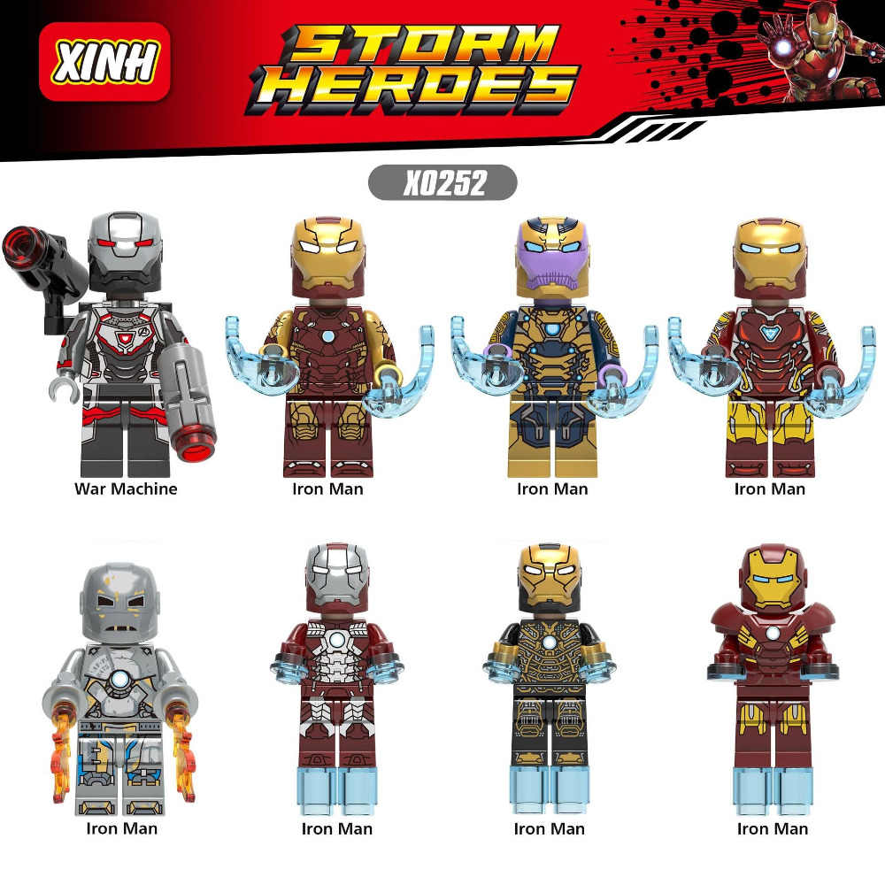 LEGOing Super Heroes Iron Man Model Building Kits Toy For Children