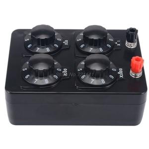 Image 4 - Caja de resistencia sencilla de 0 a 9999 Ohm, herramienta de instrumento de enseñanza de resistencia de precisión Variable de década, MAR20