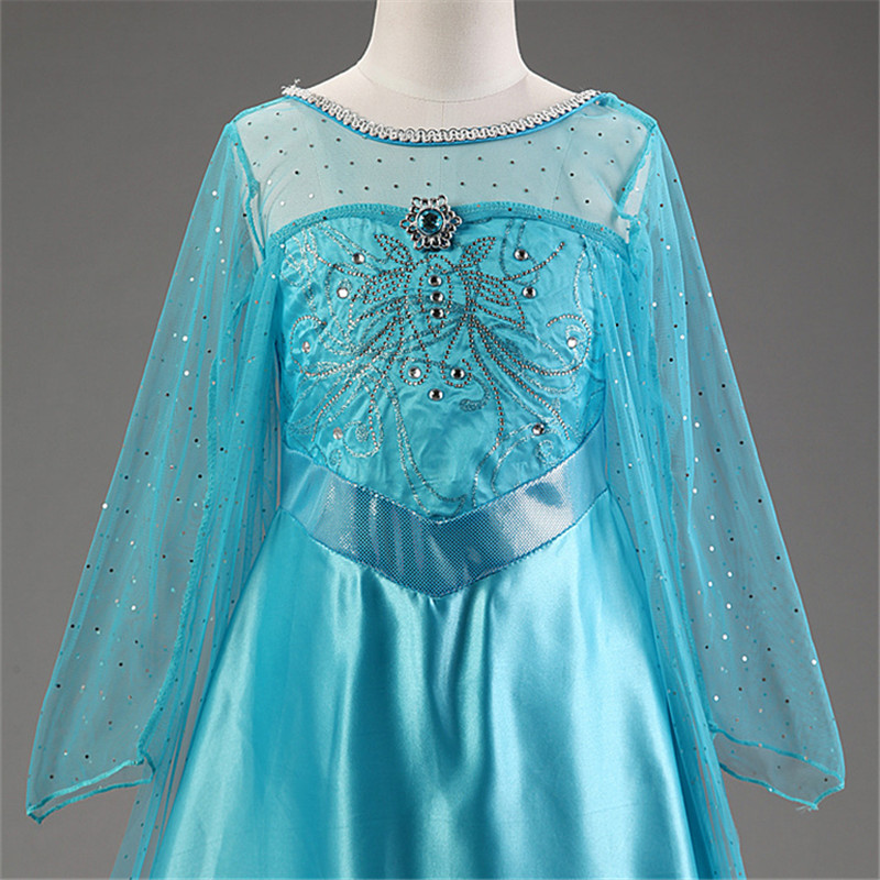 HTB1KosOcwKG3KVjSZFLq6yMvXXaW Cosplay Queen Elsa Dresses Elsa Elza Costumes Princess Anna Dress for Girls Party Vestidos Fantasia Kids Girls Clothing Elsa Set