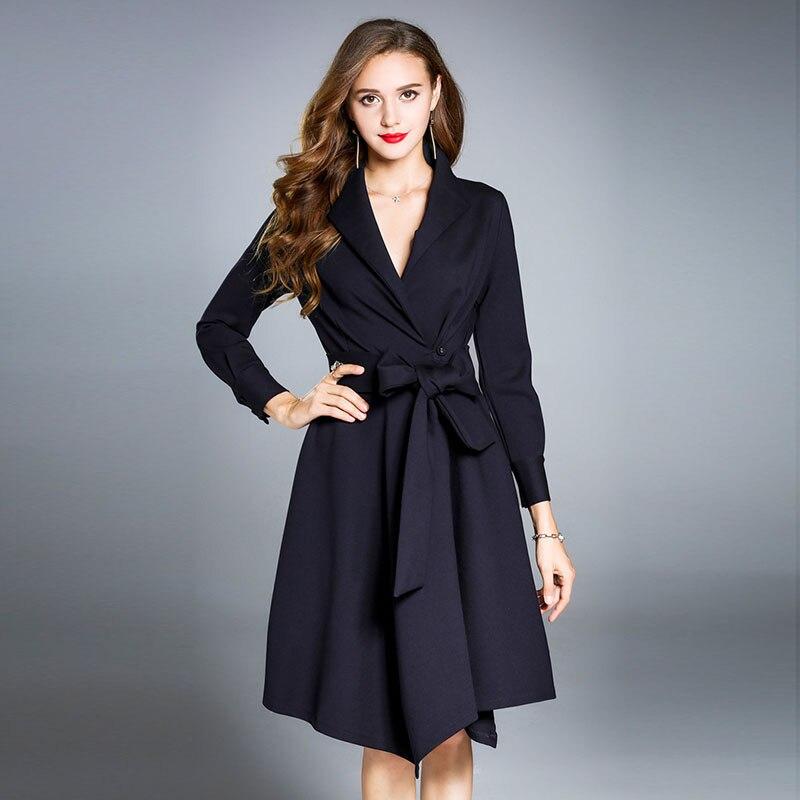 2018 Φθινόπωρο Φθινόπωρο Φορέματα - Γυναικείος ρουχισμός - Φωτογραφία 5