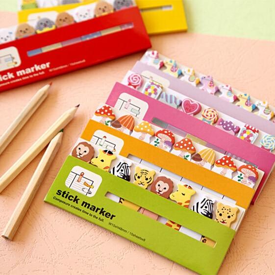 8pcs/lot New cute animals 550 style sticky notepad / Memo / message post marker / label 550 style sticky WJ0117