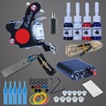 Tattoo 8 Wrap Coils Guns Kits Tattoo Rotary Machine Black Pigment Sets Power Supply  Beginner Tattoo Supplies