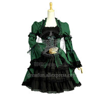 Victorian Lolita Princess Steampunk Gothic Lolita Dress With Lace And Ruffles Decorated Cute And Sweet For Halloween Style Party
