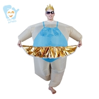 Halloween Costume Men Cosplay Inflatable Ballerina Costume Ballet Carnival Costumes Adult Fancy Dress Stitch Onesie