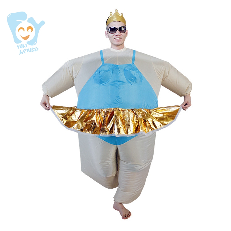 halloween costume men cosplay inflatable ballerina costume ballet carnival costumes adult fancy dress stitch onesie - Halloween Costumes Prices