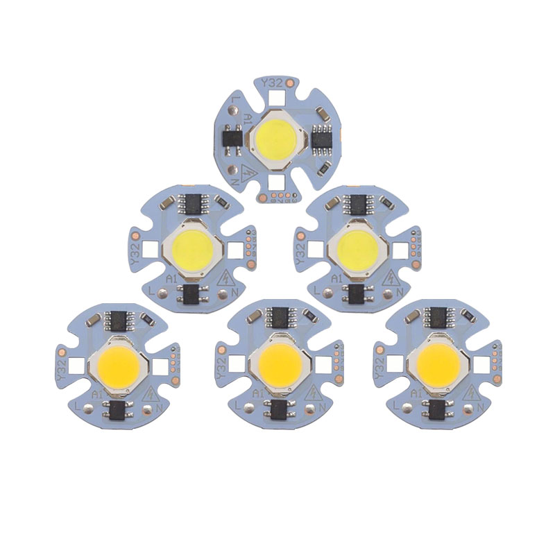 5pcs/lot LED Lamp COB Chip 12W 10W 7W 5W 3W Real Power 220V Input Smart IC DIY For Spotlight Floodlight Cold White Warm White
