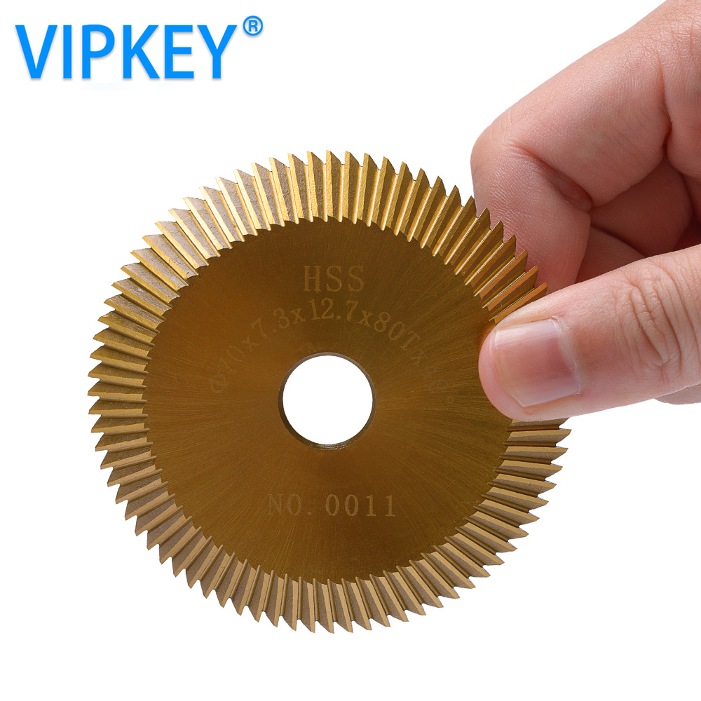 0011 HSS-TIN cutting saw blade 70*7.3*12.7mm*80T key machine cutter mini circular saw все цены