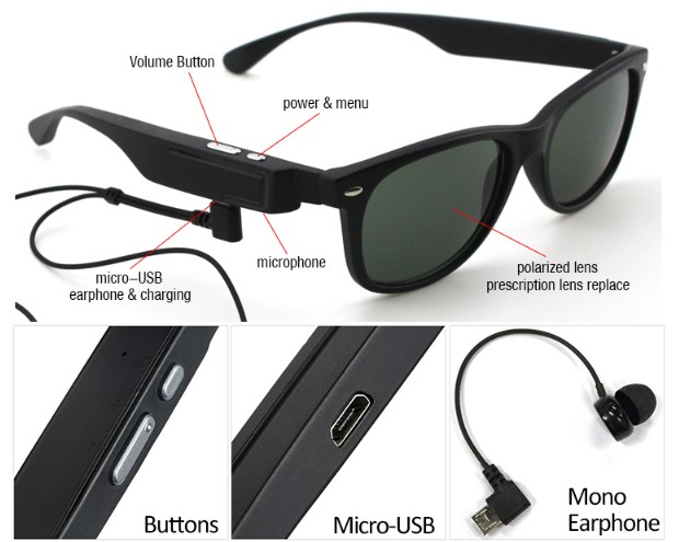 7946b5cc23b3 Smart Wearable Wireless Bluetooth Headset Polarized Safe Driving Sunglasses  Travelling Glasses Fishing Glasses