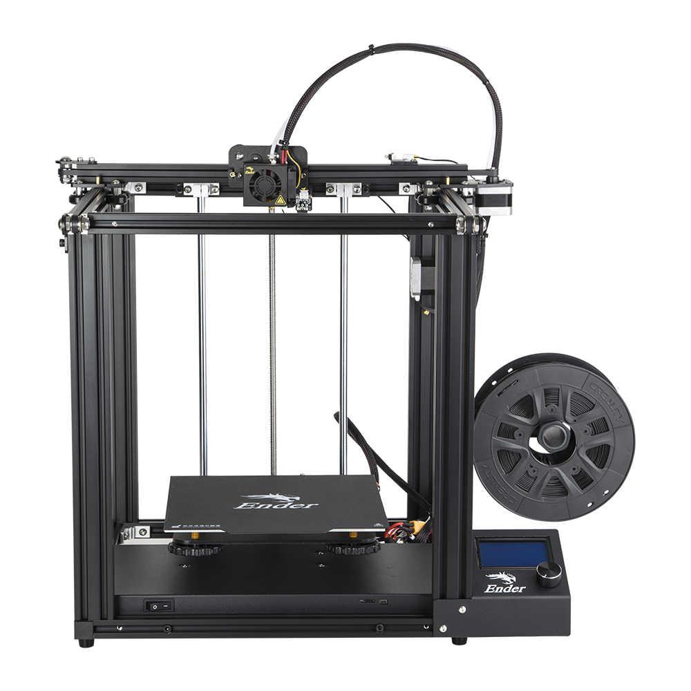 Haute précision imprimante 3D Ender-5 grande taille plaque de construction magnétique, mise hors tension reprendre facile biuld crealité 3D Filaments + Hotbed + SD