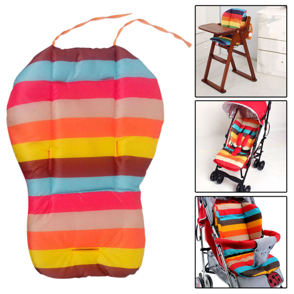 Rainbow Baby Stroller Cushion Seat  Pushchair Cart Mat For Baby Carriages Chairs Pram Stroller Accessories