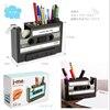 Creative Vintage Magnetic Tape Shape Tape Dispenser Cutter Parts Pen Pencil Holder Stand Desktop Zakka Organizer