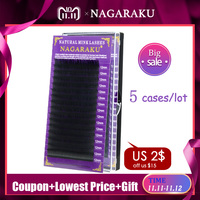 1b8cbefb2e5 NAGARAKU 5 cases/lot mink eyelash extension individual eyelashes natural  eyelashes make up eyelashes maquiagem