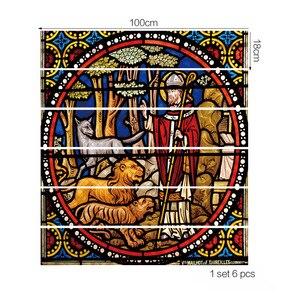 Image 3 - Pegatinas de azulejo religioso para salpicaduras, pegatinas de azulejo DIY, palo TRADICIONAL MEXICANO impermeable, decoración para el hogar, pegatinas para escalera, Mural con escalera D