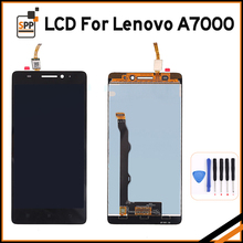High Quality LCD for Lenovo A7000 A 7000 LCD Display Touch Screen Digitizer Glass Assembly Replacement Black White 5.5″+Tool