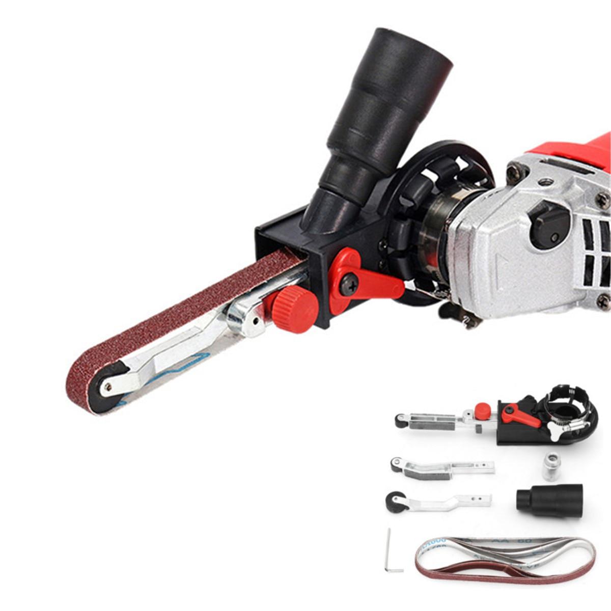 Nieuwe DIY Schuurmachine Schuren Riem Adapter Voor 115/125 Elektrische Haakse Slijper met M14 Draad Spindel Voor houtbewerking Metaalbewerking