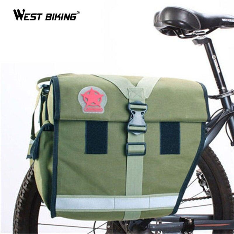 ФОТО WEST BIKING High Capacity Bicycle Rear Luggage Bag Waterproof Multifunction Rack Seat Bags MTB Bike Cycling Bicycle Rear Bags