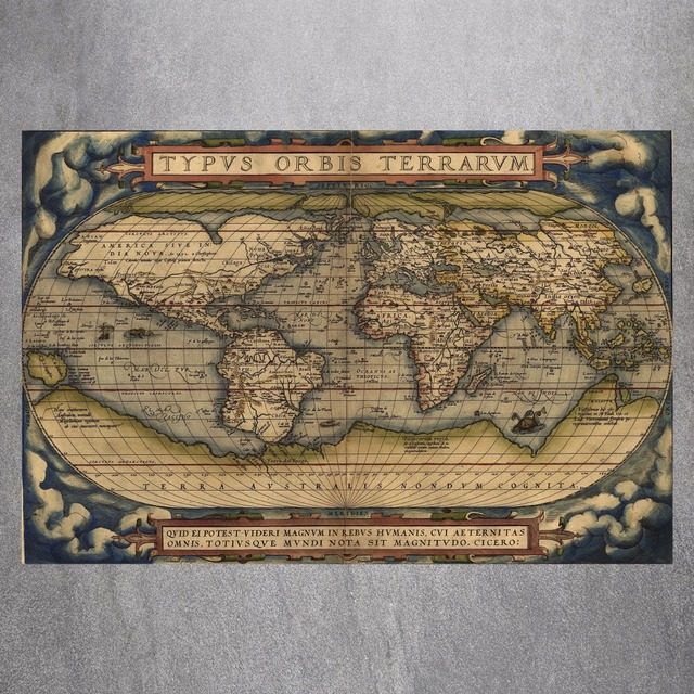 Old school world map canvas art print painting poster wall picture old school world map canvas art print painting poster wall picture for living room home decorative gumiabroncs Images