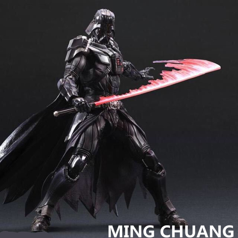 Star Wars Play Arts Black Warrior Darth Vader Jedi Knight PVC Action Figure Collectible Model Toy with retail box 27 cm Q39
