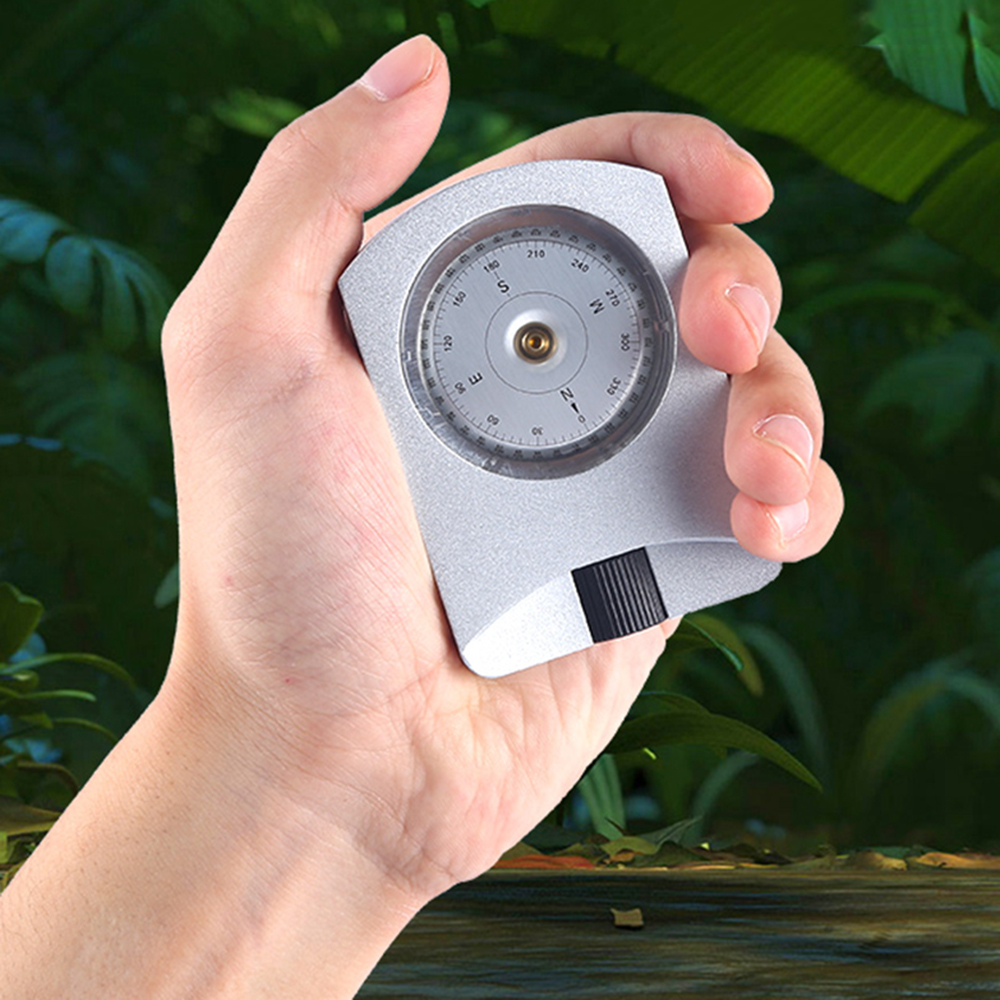 Professional Scientific Research Aluminum Alloy Sighting Altimeter Clinometer Slope/Height Measurement Silver Compass