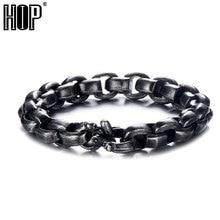 HIP Hop 22cm Royal Black Color Men Bracelet 316L Stainless Steel Curb Bead Link Chain Bracelets For Men Women Jewelry цена