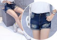 Оптовые любителей в талии джинсовые шорты женщина была тонкая керлинг шорты прилив женщин джинсовые шорты весной и летом