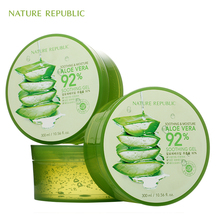 Nature Republic Soothing Moisture ALOE VERA 92% Gel 300ML Korea Skin Care Cosmetics Acne Treatment Face Cream