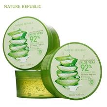 Nature Republic Soothing Moisture ALOE VERA 92% Soothing Gel 300ML Korea Skin Care Cosmetics Acne Treatment Face Cream косметика nature republic купить
