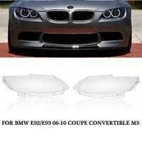 1PC Left Right Car Headlight Cover Headlamp Lens Cover Fit For BMW E92 E93 Coupe M3