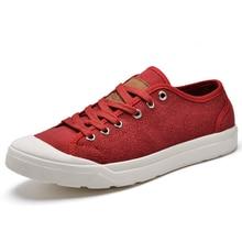 Nouveau Printemps D'été Respirant Mocassins Hommes Casual Toile Chaussures Classique Rouge Hommes de Dentelle-up Plat Occasionnels Chaussures Confortables conduite Chaussures
