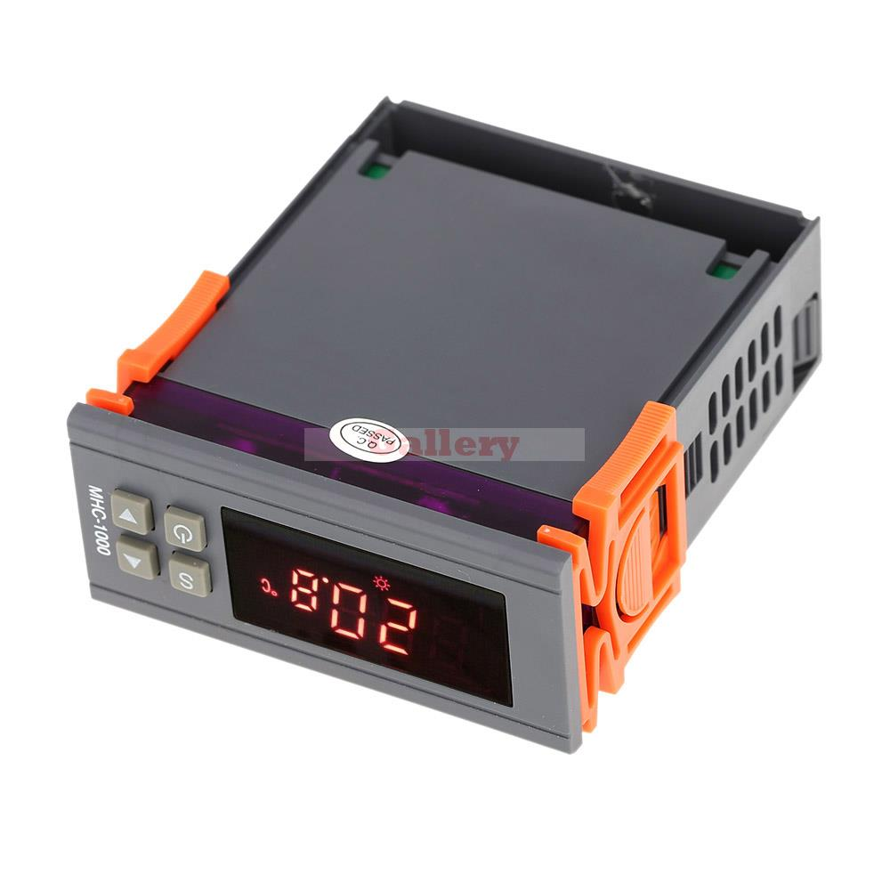 ФОТО 10 A 220v Led Digital Temperature Controller Thermometer Thermostat Regulator Heating And Cooling Thermocouple with Sensor