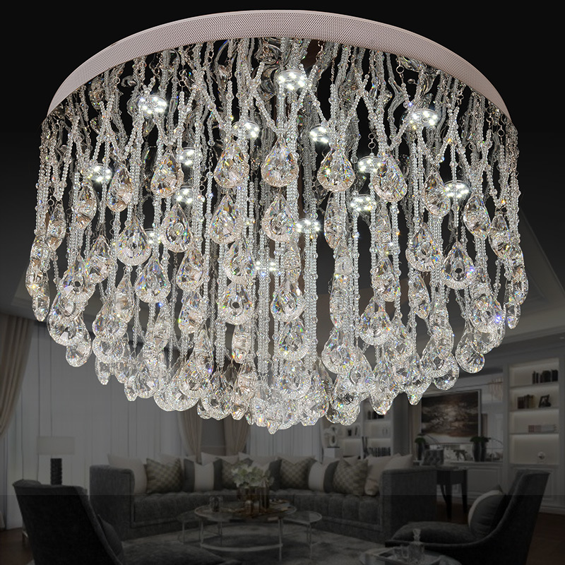 85-265 - v led crystal LAMP absorb dome light circular modern crystal chandelier hanging crystal lamp dish sgmah 01b1a41 85