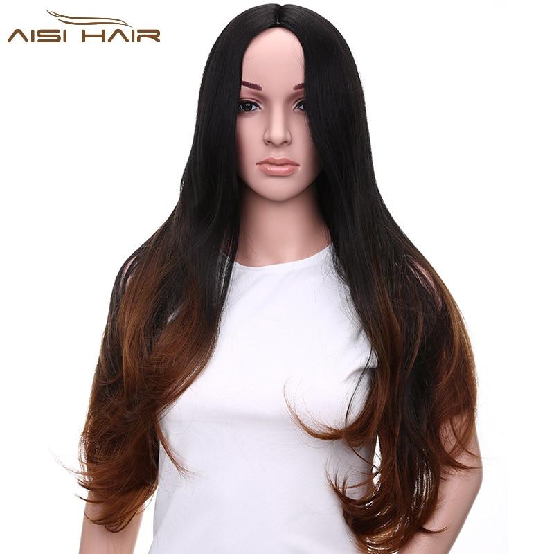 me de una peluca de cortes de pelo largo para las mujeres uubrown