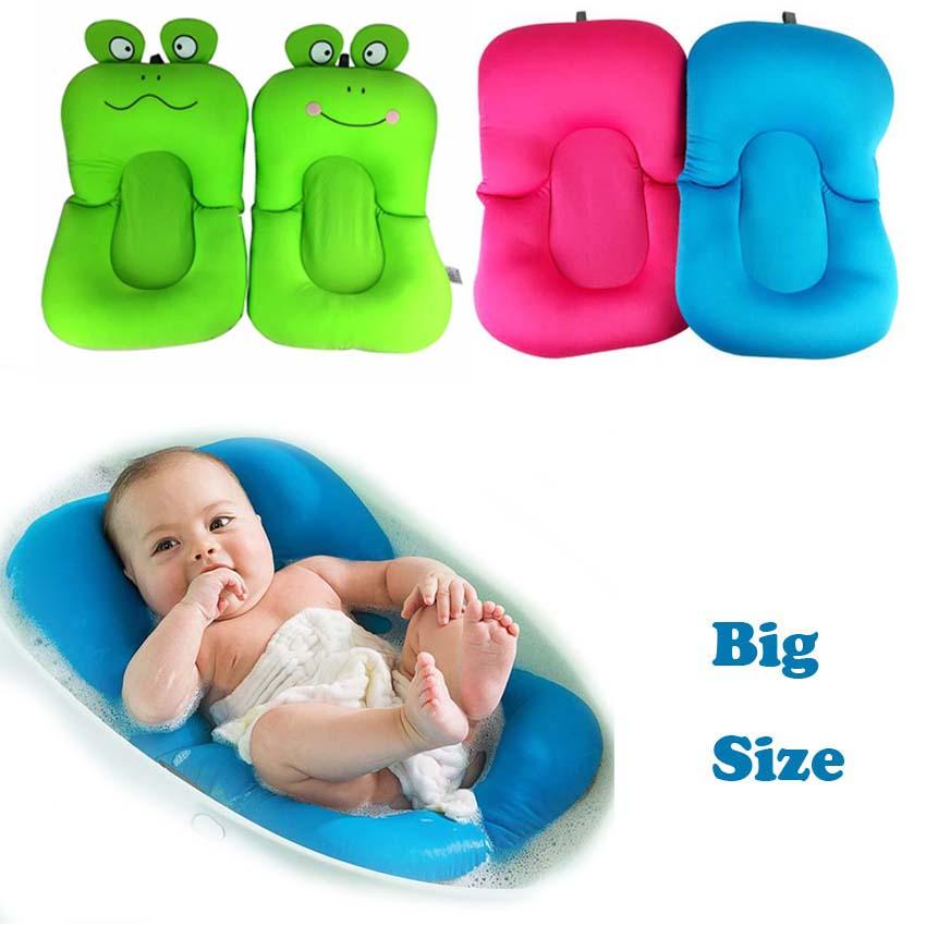 New Design Foldable Baby Bath Tub Bed Pad Bath Chair Shelf