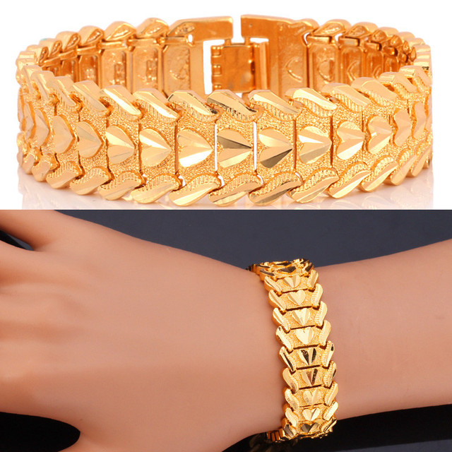 Fashion Gold Bracelets For Men Jewelry Wholesal Real luxury golden