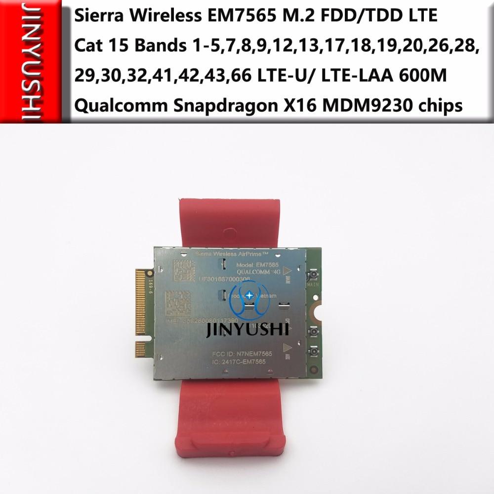 Sierra Wireless EM7565 M.2 FDD/TDD 4G-5G Module LTE-U/ LTE-LAA Cat 12 Bands Qualcomm Snapdragon X16 MDM9230 Chips