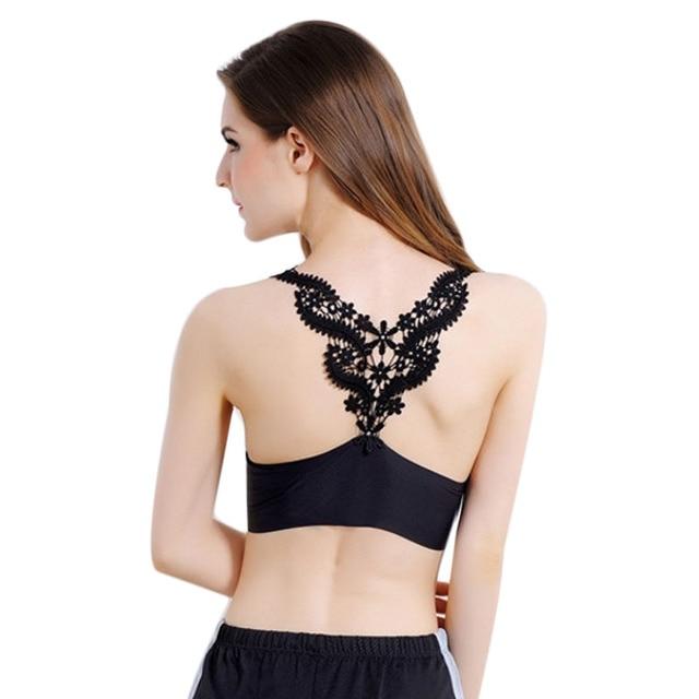 Femmes Seamless Débardeur Sexy Dentelle Crop Tops Crochet Dos Creux-out  Femme Gilet Camisole Dentelle 4c07d88a11a