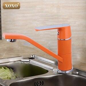 Image 2 - Xoxo torneira com misturador, torneira para cozinha quente e fria com um furo, torneira para água cozinha 360 graus de rotação 20011w w
