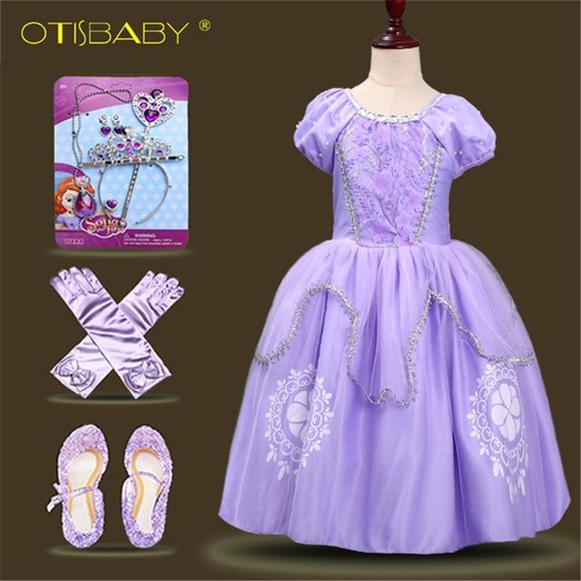 Ragazze dei capretti Della Principessa Sofia Vestito Rapunzel Abiti Abito  di Sfera Lungo Party Dress Abbigliamento Bambini Bambini Costume di  Halloween ... f9f6dee393e2