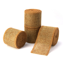 KALASO 3M Natural Jute Burlap Ribbon DIY Crafts Supplies Wedding Decoration Width Party Weeding 5cm